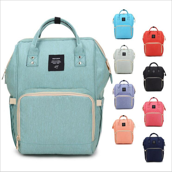 Free DHL Mommy Backpack Mother Maternity Nappies Diaper Backpacks Large Volume Outdoor Travel Bags multifunction Diaper Bags 14 colors MPB02