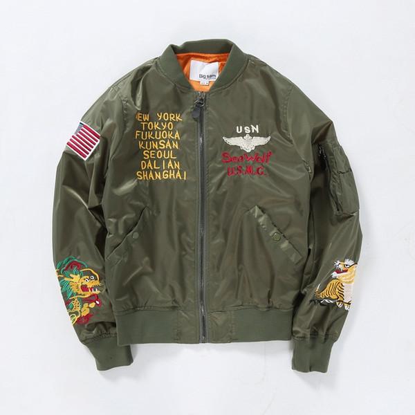 Großhandel Dragon Tiger Stickerei Fliegen Jacke Mantel, Für Männer Frauen Bomber Flug Jacke Baseball Oberbekleidung Von Lifacai1987, $32.49 Auf