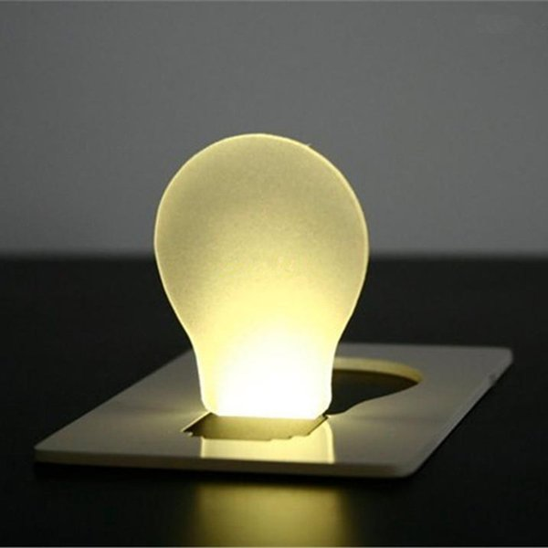 best selling Mini LED Night Light LED Credit Card Light Novelty Portable Light LED Portable Pocket Card Wallet Lamp Credit Card Lamp Easy Carry