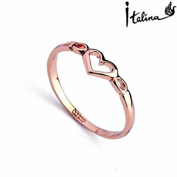 Nova Venda Real Italina Anéis para Mulheres Genuine Áustria Cristal 18KRGP Banhado A ouro Moda # RA10314Rose