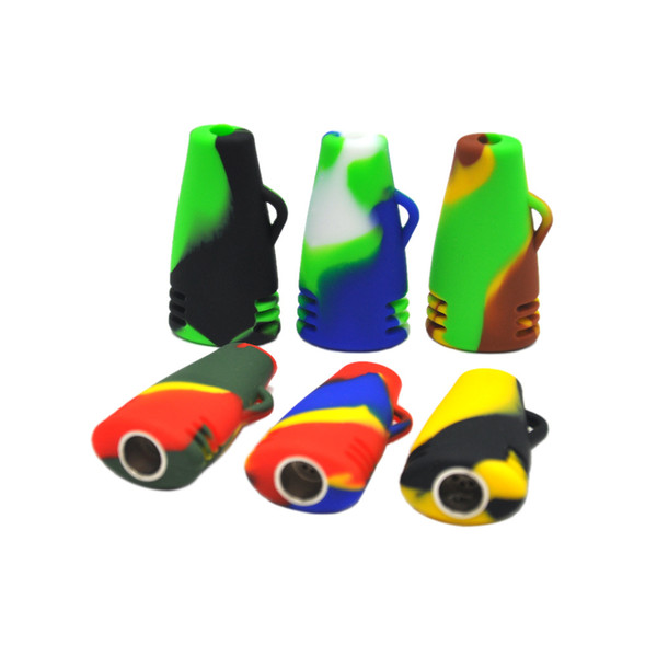 high quality silicone hand pipes Small Portable silicone Oil Burner Bong Silicone Smoking Pipes Free Shipping