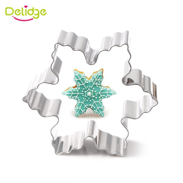 1pc Wedding Snowflake Stainless Steel Cookies Cutter 3D Biscuit Ring Vegetables Cutter Mold DIY Baking Pastry Tools