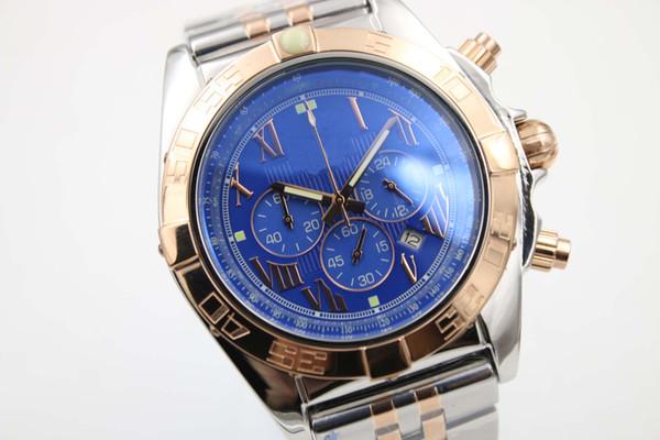 Vendita calda elegante speciale fine marca orologi al quarzo uomo quadrante analogico cassa oro scheletro rosa fascia oro vendicatore 1884 cronometro orologio digitale