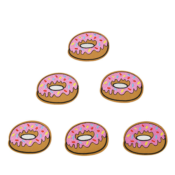 best selling 10 pcs Donuts patches badges for clothing iron embroidered patch applique iron sew on Diy patches sewing accessories for clothes