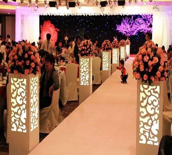 Бесплатная доставка 115*20*20 см роскошные свадебные резные столб половина резьба дизайн свадьба дорога свинец стенд с LED LLFA