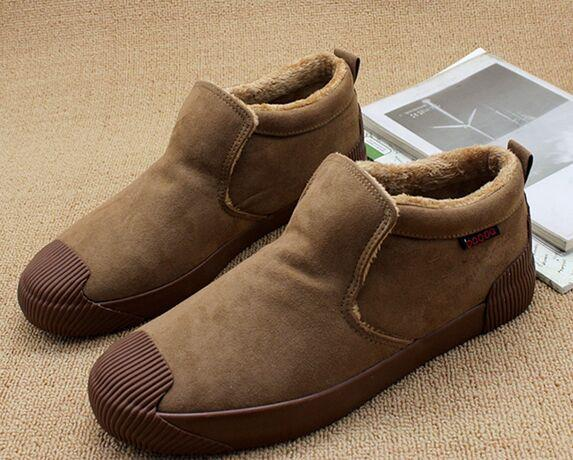 Wholesale New Arrival Hot Sale Specials Suede Casual Low Help Lazy Pedal Thickening Warm Knight Men Shoes EU39-44