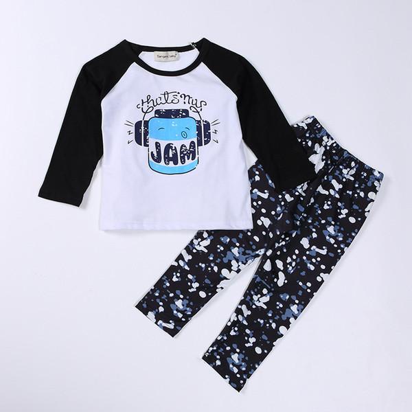 lace o neck baby boy clothes sets top+pants pring baby girl kids t shirt+pants+headwear 3pcs toddler print girls pattern clothes