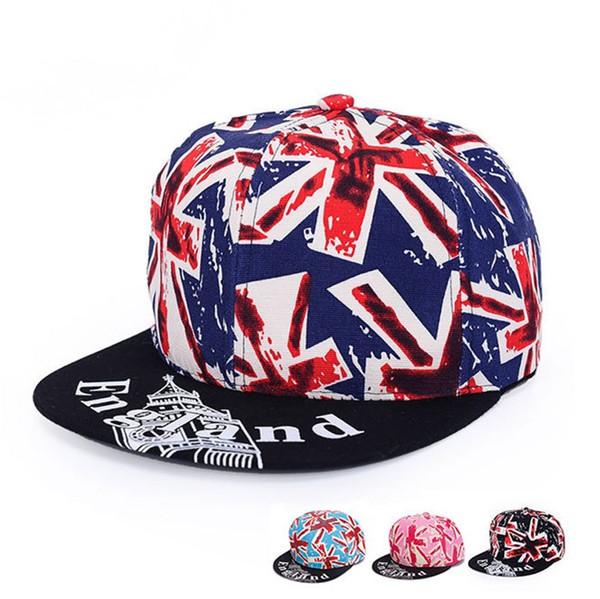 Beliebte Hip Hop Baseball Hüte Mit England Flagge Muster Hysteresen Für Männer Und Frauen Hysterese Kpop Sport Einstellbare Basketballkappe