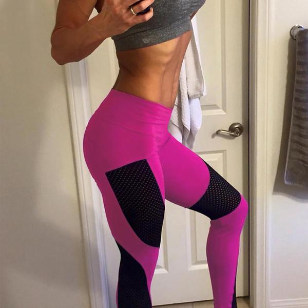 Women Push Up Leggings High Waist Elastic Pink Workout Legging Pants 2017 Summer Fashion Ladies Fitness Black Leggings Plus Size
