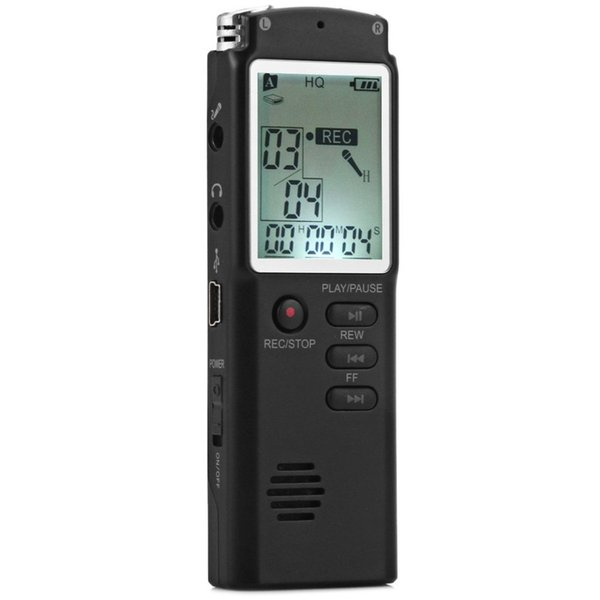 Toptan-Yüksek Kalite 2 1 T60 Profesyonel 8GB LCD Time Display Kayıt Dijital Ses / Ses Kaydedici Kulaklık MP3 Çalar