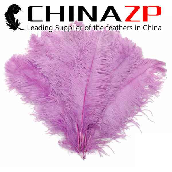 CHINAZP Factory Large Size 22-24inch (55-60cm) Exporting Good Quality Dyed Lavender Party Decoration Ostrich Plumes Feathers