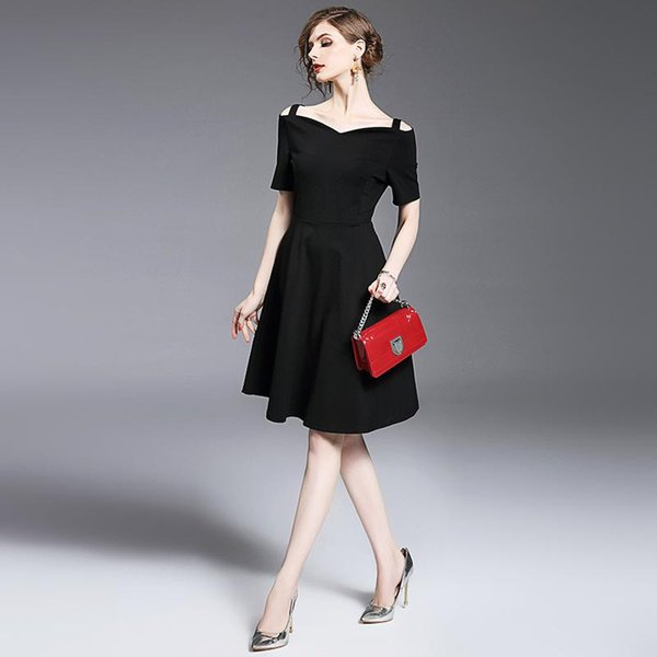 2017 Autumn Women Dresses Lace Vintage Sexy Party Dresses With Slash Neck Slim Elegant Black Casual Dress For Womens Clothing High Quality