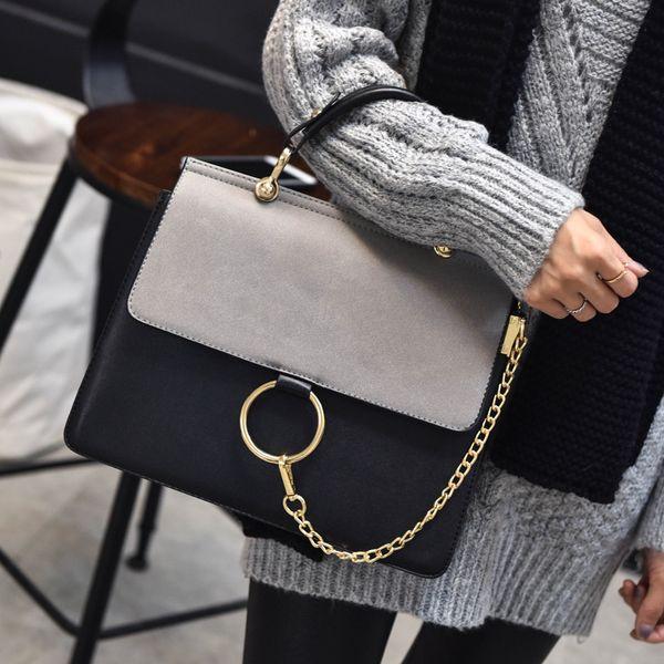 2016 Fashion Paneled Women Handbag New Small Paillettes Ladies Hand Bags Sacchetti di spalla in pelle PU di alta qualità Sac A Main Femme