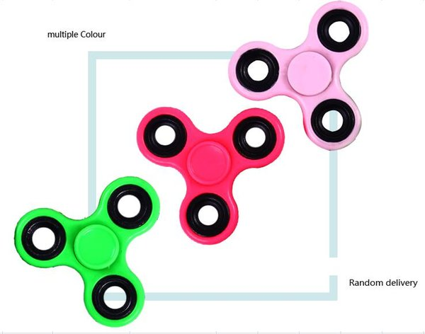 2017 Factory Novelty Toy Colors Fidget Spinner Hand Spinner Toy finger skateboard Non3D printed Fidget Focus plating W17JS519