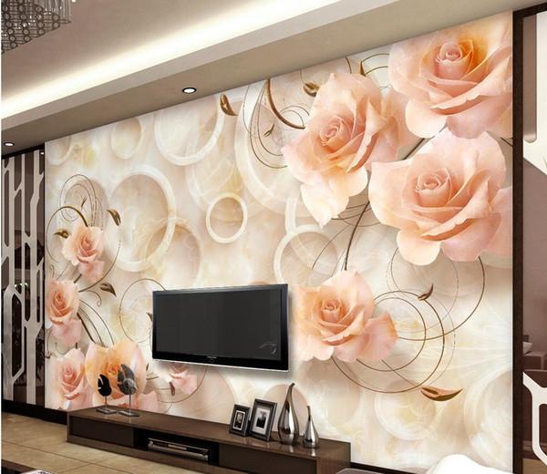 Living Room 3d Wallpaper modern living room 3d marble relief tv background wall mural 3d