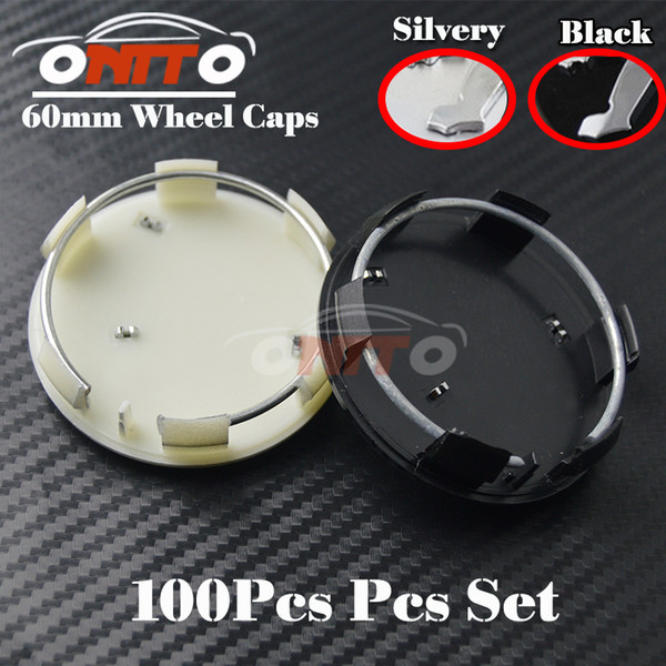 Wholesale 100PCS Wheel Emblems Cover for 206 307 308 408 3008 301 508 2008 Auto Wheel hub Logo Cap 60MM Silvery Wheel Car Badge logo