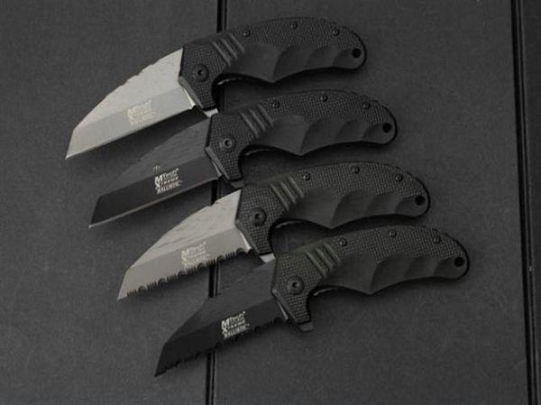 Mtech F75 Karambit Claw Small Tactical Folding Knife 440C 56HRC Titanium Serrated Jackknife Camping Hunting Survival Pocket EDC Tools