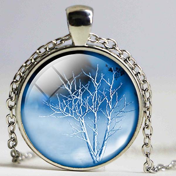 Дерево жизни ожерелье Дерево жизни кулон Дерево Жизни ювелирные изделия лес Леса Рождественский подарок для друзей