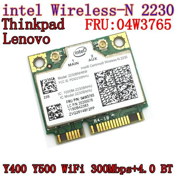 All'ingrosso - Intel Centrino Wireless-N 2230 senza fili Bluetooth 4.0 Wifi N2230 300M scheda mini pcie 04w3765 per Y400 Y500 intel 2230