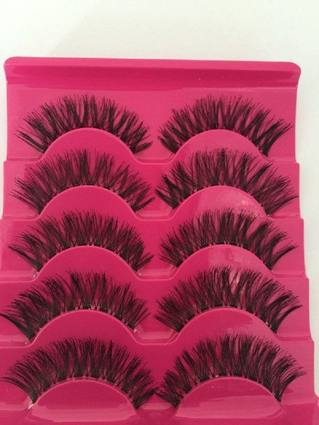 New 5 Pairs Natural Long False EyeLashes Makeup Beauty Handmade Thick Fake False Eyelashes A539
