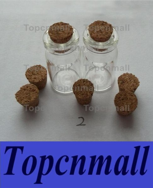 2ml Vials Clear Glass Bottles With Corks Mini Glass Bottle Wood Cap Empty Sample Jars Small 35x16mm(HeightxDia) Cute Craft Wish Bottles