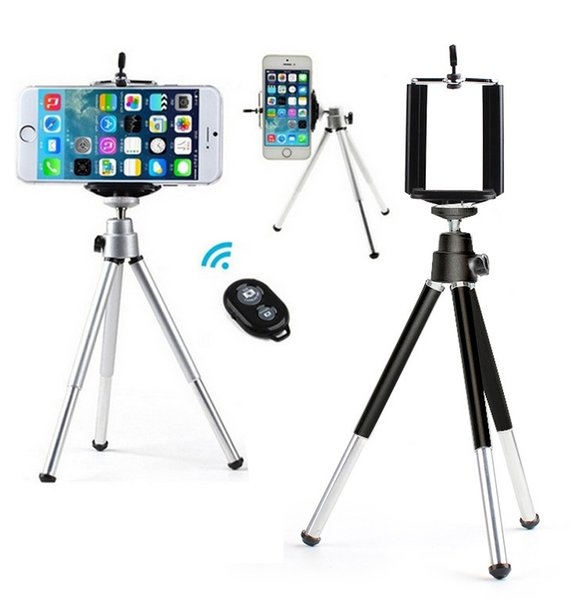 Universal Bluetooth Remote Control Mini Portable Desktop Tripod Camera Holder Monopod With Clip For Iphone 6 7 Cell phone Gopro DV Camcorder
