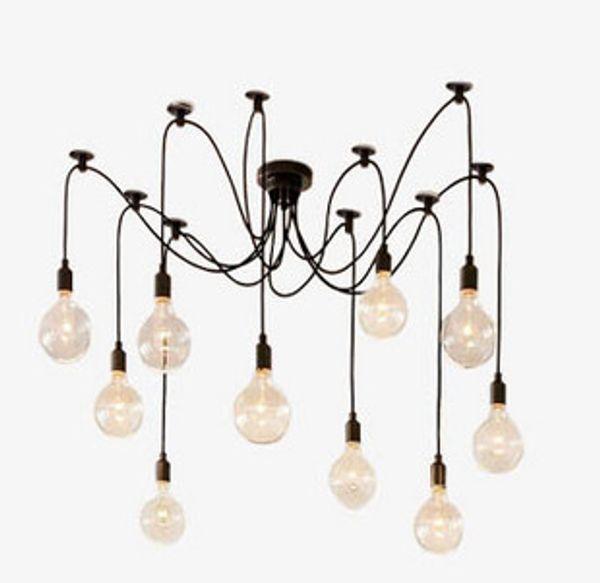 Vintage Pendant Lamps RH Loft retro Edison bulbs Hanging lights Creative spider lighting fixture 110V-240V Free shipping