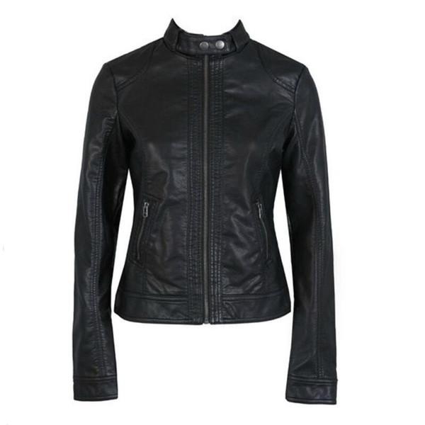 best selling Women's Leather Jacket PU Leather Motorcycle Jacket fashion Jacket Slim Women'Soft Leather Large Size XS-XXXL