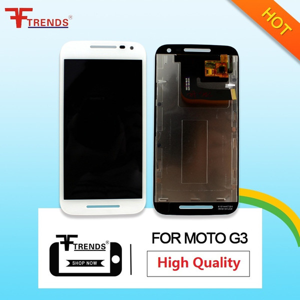 High Quality For Motorola Moto G3 3rd Gen LCD Display Touch Digitizer Assembly Black White with Free Repair Tools Gift