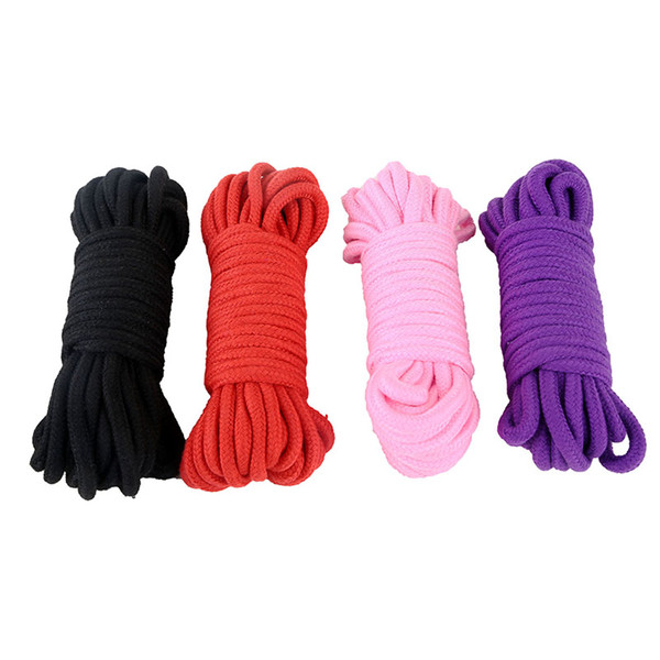 top popular 10 Meters Long Thick Strong Cotton Rope Fetish Sex Restraint Bondage Ropes Harness Flirting SM Adult Game Sex Toys for Couples 2019