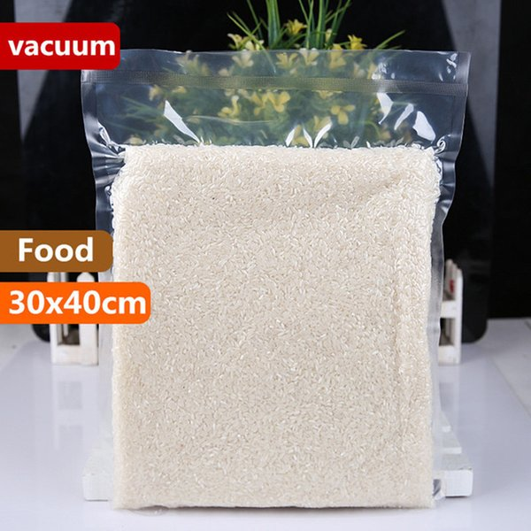 30x40cm A Grade Vacuum Transparent Cooked Food Saver Storing Packaging Bags Meat Snacks Hermetic Storage Heat Sealing Plastic Package Pouch