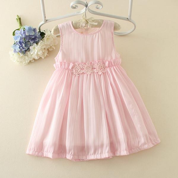 2017New arrivo Fancy Ultimi Baby Party Dress Bambini Frocks Design sforzato Peplo Flower Girl Dress per i bambini