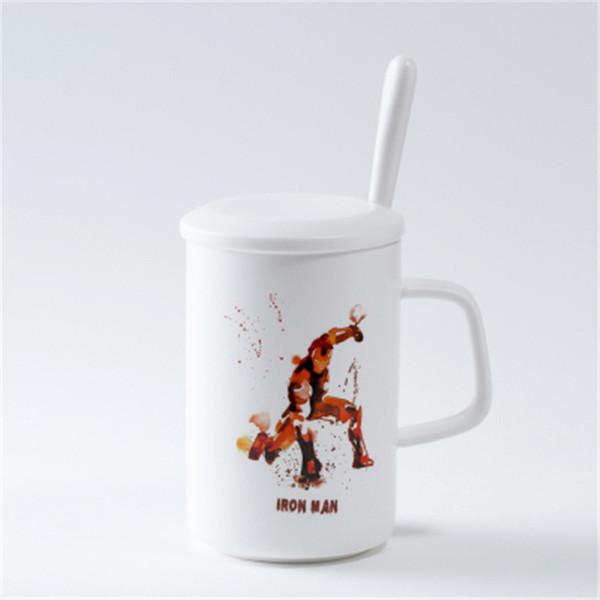 Satin Al Murekkep Boyama Seramik Kupa Kahve Sut Su Cay Kahvalti