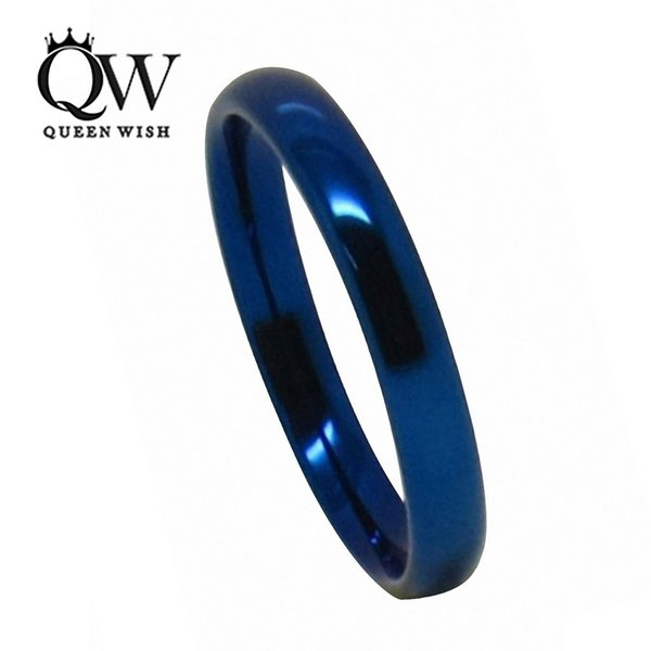 2/3/4/5/6/8mm Blue Tungsten Carbide Wedding & Engagement Rings High Polished Dome Matching Couples Statement Anniversary Rings Bridal Sets