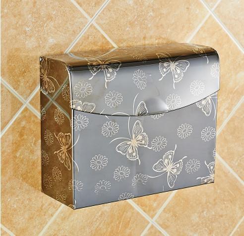 A5 Bathroom rack supplies bathroom accessories Space Stainless steel tissue box bathroom toilet paper holder box net book rack