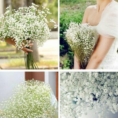 High Quanlity 100Pcs/lot Gypsophila silk baby breath Artificial Fake Silk Flowers Plant Home Wedding Party Home Decoration Cheap Sale