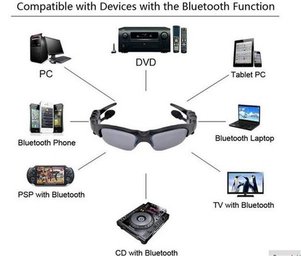 Intelligente Gläser Bluetooth V4.1 Sunglass Sun-Glassport-Kopfhörer-MP3-Player Bluetooth-Telefon-drahtlose Kopfhörer Bluetooth-Brillen
