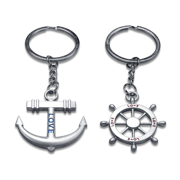 10Pairs Car Key Ring Key Couple Key Chain Keyring Keyfob Lover Gift Metal Valentine's Day Creative Gift