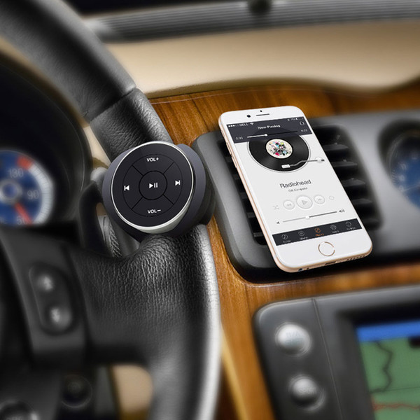 NEW Wireless Bluetooth Media Button for Steering Sandlebar Accessories Remote Control for iPhone MP3 Music Play for Car, Motorcycle, Bicycle