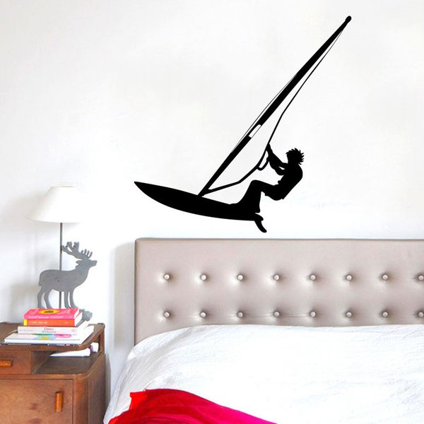 Surfing Wall Stickers Windsurfing Water Sport Challenge Player Wallpaper Poster Home Decor Boys Teens Room Wall Decals Decorative Wall Art