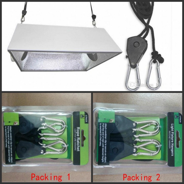 top popular ROPE RATCHET HANGER REFLECTOR GROW LIGHT YOYO HEAVY + free shipping 2021
