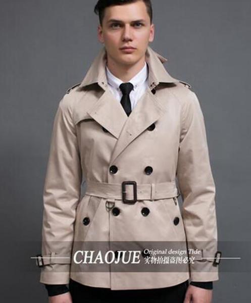 El período de primavera y otoño y la nueva moda de ocio boutique hombre edición edición corta gabardina de negocios y de ocio / S-3XL