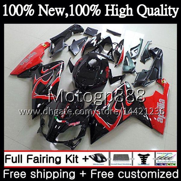 Injection For Aprilia RS4 RSV125 RS125 06 07 08 09 10 11 RS-125 0PG7 Red black RSV RS 125 2006 2007 2008 2009 2010 2011 Fairing Bodywork