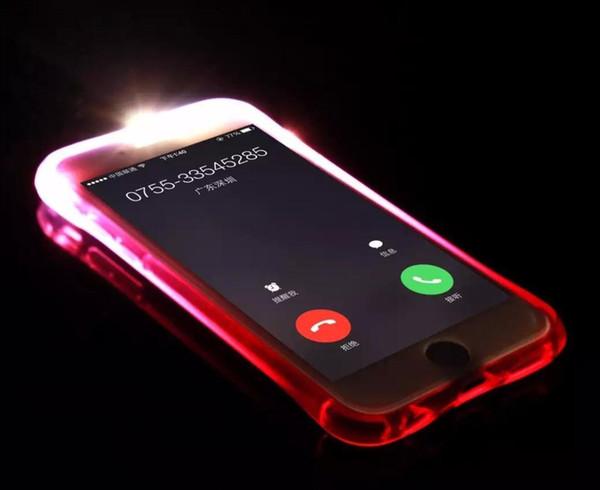 For ZTE A310 A610 A315 L5 LG X Cam X Power X Max Style Call Lightning Flash LED Light Up Phone Case transparent Soft Shockproof Cover