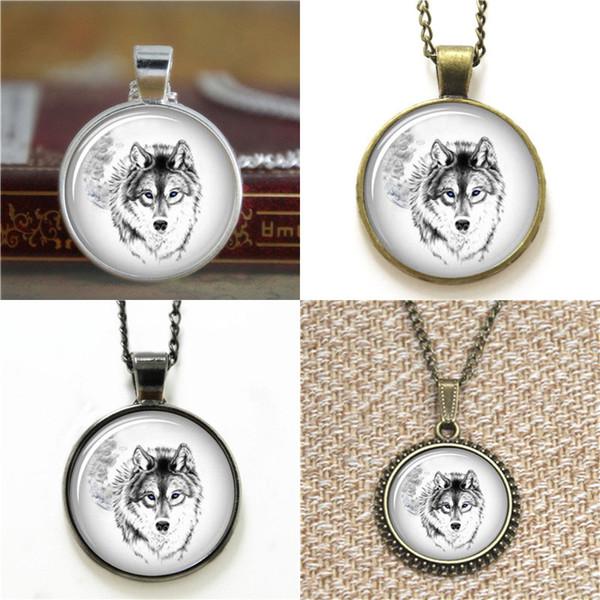 10pcs bianco lupo gioielli natura foto regalo vetro foto collana portachiavi segnalibro gemello braccialetto orecchino