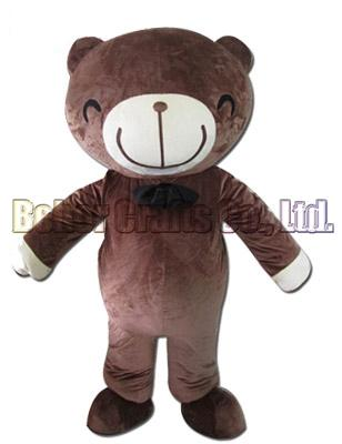 Smile bear mascot costume EMS free shipping, cheap high quality carnival party Fancy plush walking bear mascot adult size.