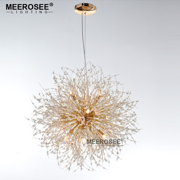2017 New Modern Crystal Pendant Lamp Suspension Lampadario Lighting Fixture Round Lights for Living Room Dining Room Lustre