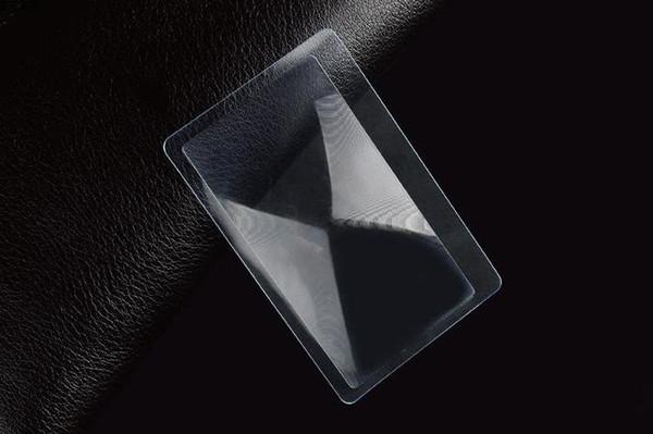Neue transparente Kreditkarte 3 X-Vergrößerungsglas-Vergrösserung Heiße Verkäufe hohe Qualität 2000pcs