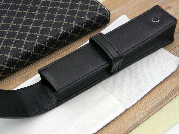 Nuevo buen cuero de la PU, escuela de oficina de regalo, negro, embalaje, embalaje individual y exterior, bolsas para bolígrafos