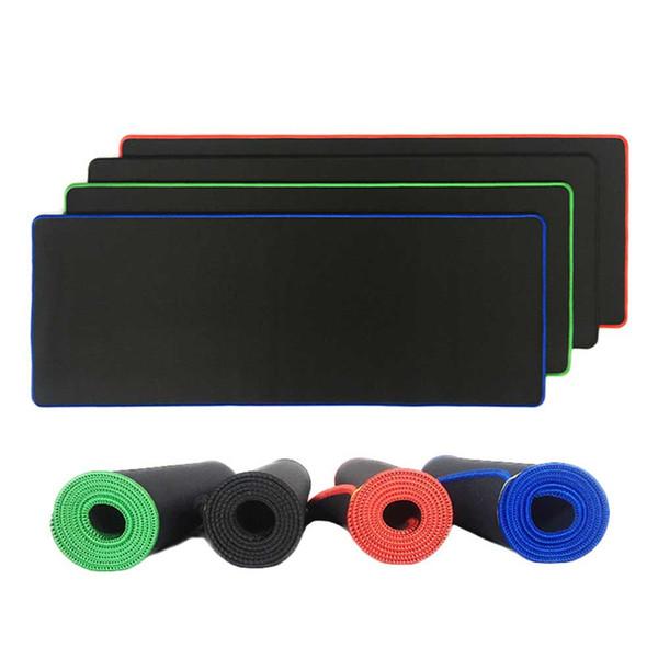 Moda Grande Gaming Mouse Pad Vermelho / Azul / Preto / Verde Travamento Borda Mousepad Esteira Do Mouse Mat Esteira de Tabela